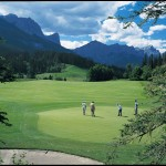 Stewart Creek Golf Course with Three Sisters Mountain view