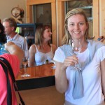 Canadian Golf Traveller Publisher Sharon McAuley visits Camelot Vineyards, Kelowna, British Columbia (Image: Brian Kendall)