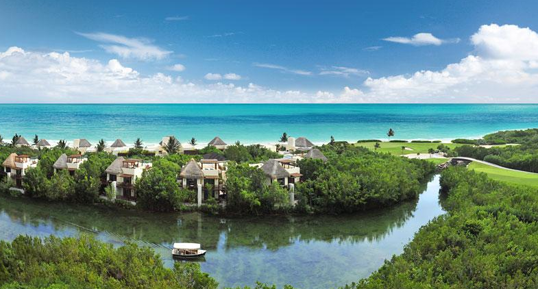 The interconnected canals of Fairmont Mayakoba (Image: Fairmont)