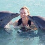 At Play with Dolphins Toni and Reggae in Jamaica