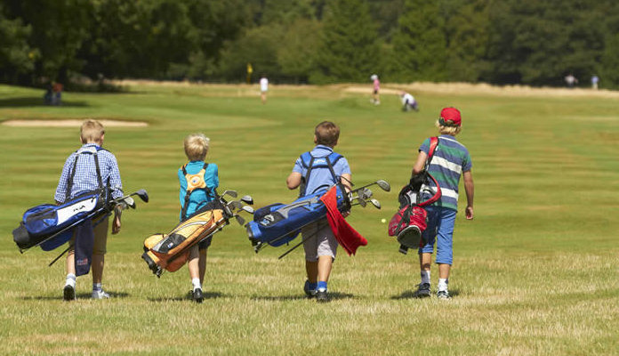 Kids on the golf course