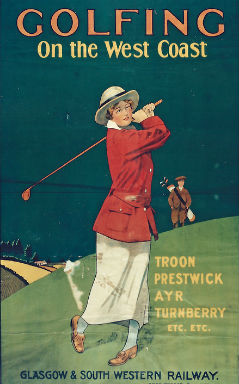 Vintage poster Golfing on the West Coast of Scotland