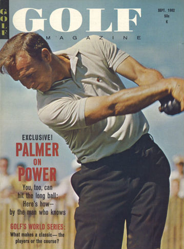 Arnold Palmer on the cover of Golf Magazine