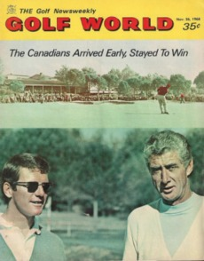 vintage World Golf cover with George Knudson and Al Balding